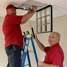 FSI Crew Replacing a Light Fixture Ballast
