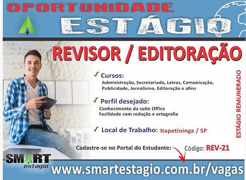 Vaga de Estágio, Revisor/Editoração