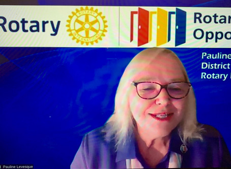 Rotary Recap - 8/26-DG Pauline Levesque