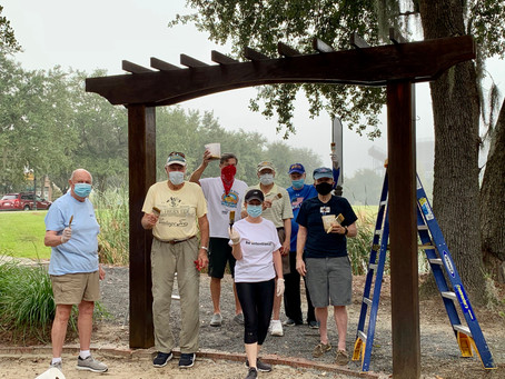 10/7 - Rotarians in Action - Work Day at Veteran's Park