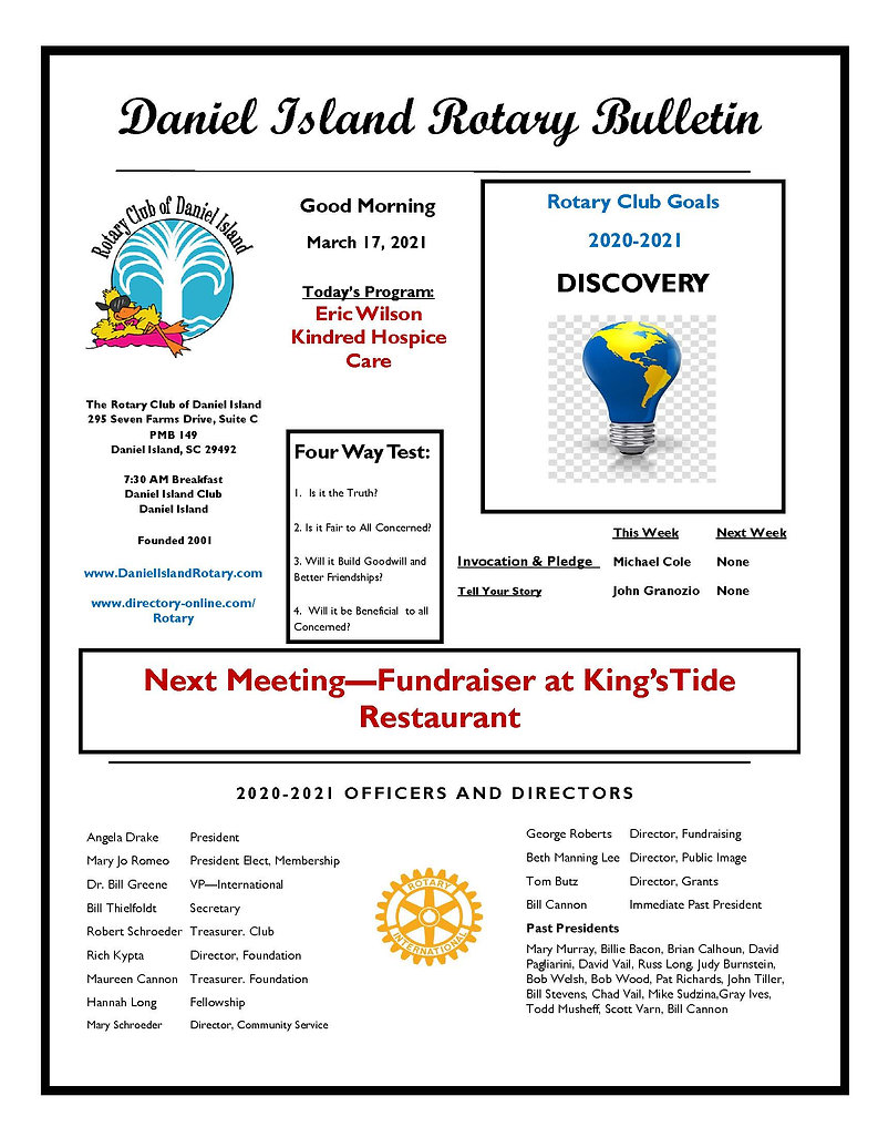 Rotary Newsletter March 17 2021[1] -  (2
