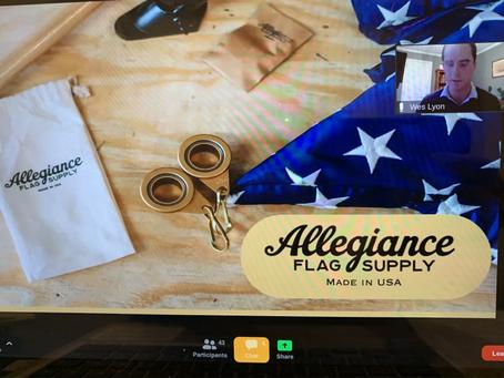 1/13/2021 - Rotary Recap - Wes Lyon, Allegiance Flag