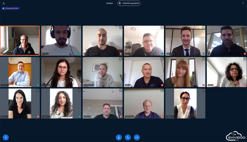 Svividoo virtuelles Klassenzimmer und digitale Kommunikationsplattform  für Firmen