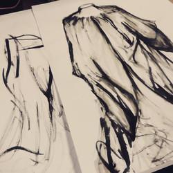 Teaching a class: Ink and sticks