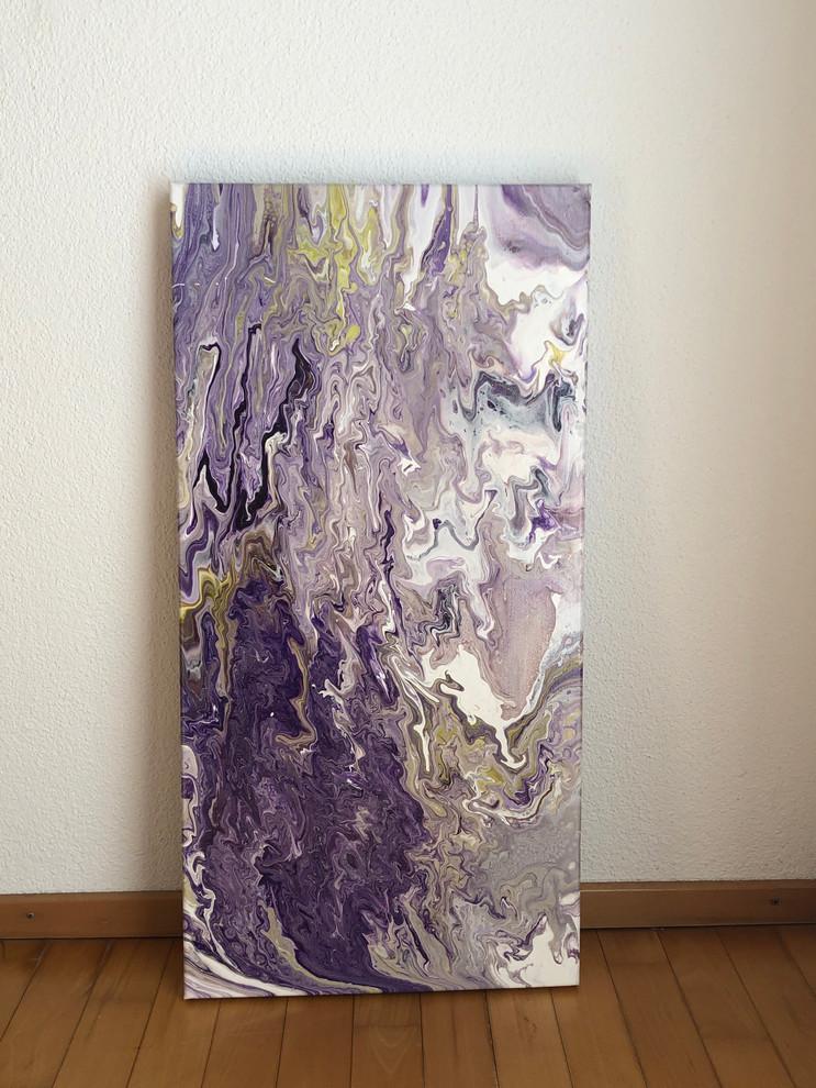 Acryl auf Leinwand lila