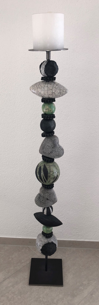 Rakku-Stele in grün