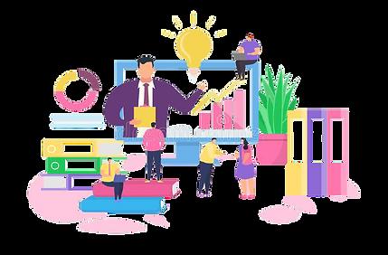 online-business-training-vector-illustra
