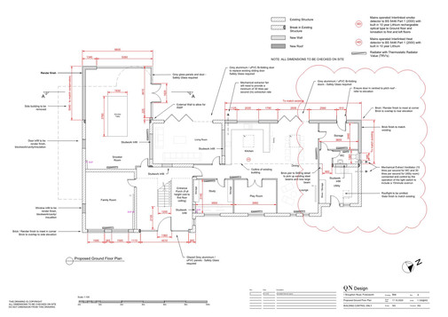 QN Design Architectural Services: Two-Storey and Singe-Storey Extension and Internal Redesign - Broughton Road, Broughton Astley