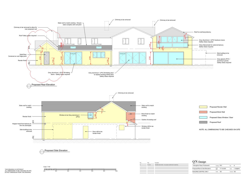 QN Design Architectural Services: Two-Storey and Single-Storey Extension and Internal Redesign - Broughton Road, Broughton Astley
