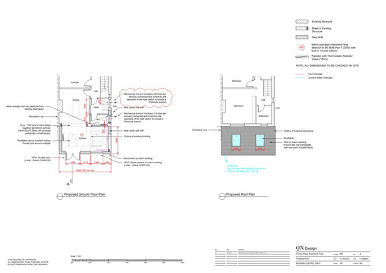 QN Design Architectural Services: Permitted Development Rear Extension - Avon Road, Braunstone