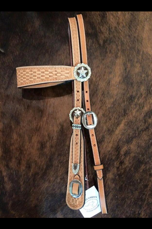 Bridle - wide brow, baton cheek, tooled & backed