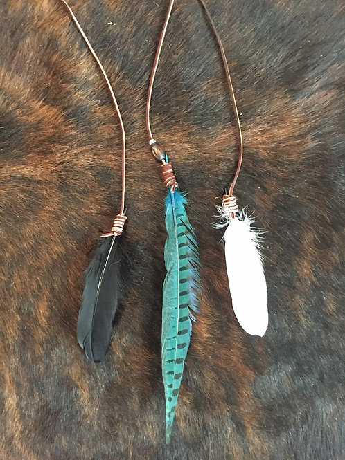 Feathers - set of three