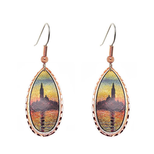 Monet Sunset in Venice Earrings