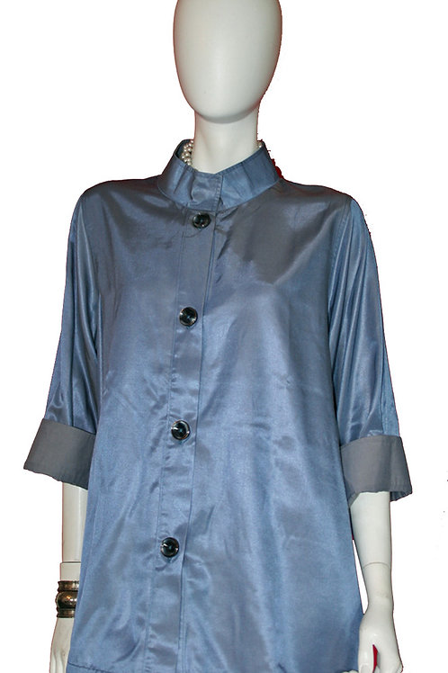 Steel Blue to Grey Reversible Iridescent Swing Top