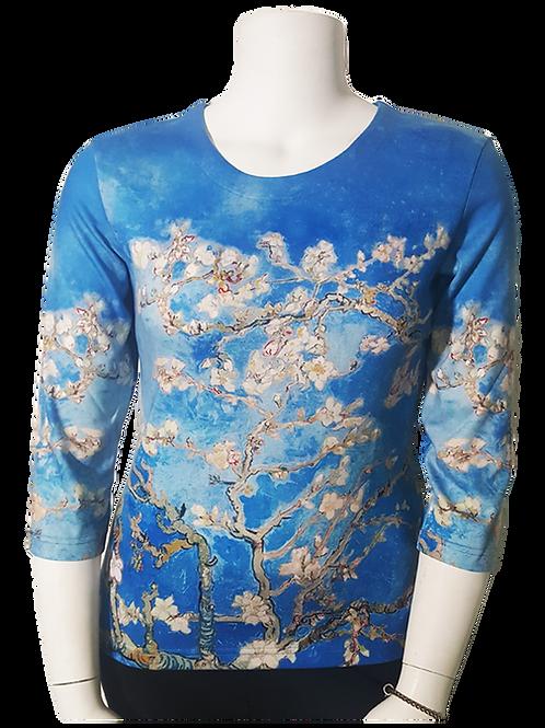 Almond Branches by Van Gogh 3/4 Sleeve Art Shirt