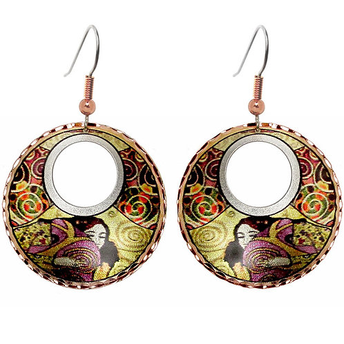 Klimt Montage Art Earrings