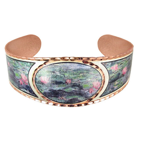Monet Water Lilies Cuff Bracelet