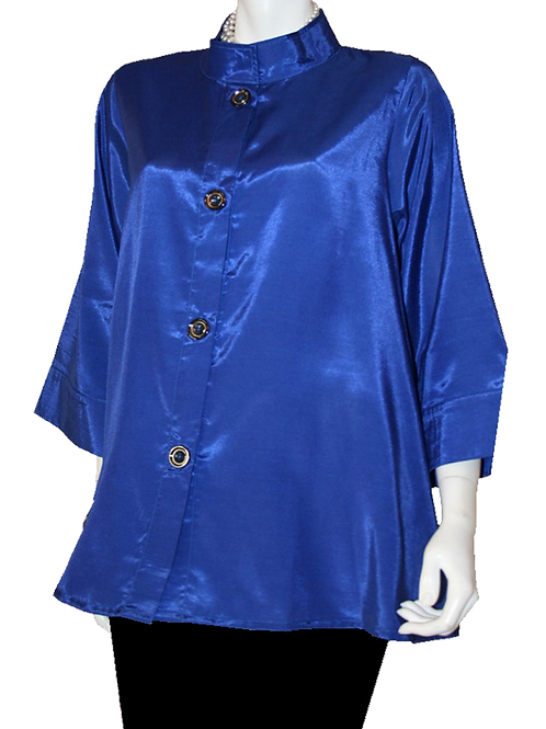 Royal Blue Iridescent Solid Swing Top