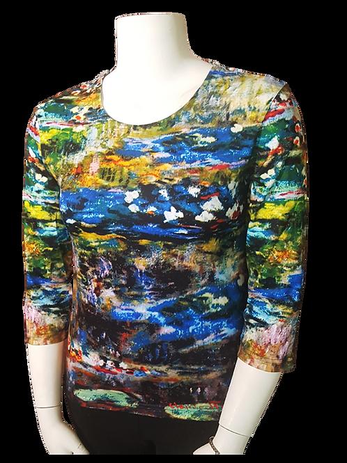 #16 - Waterlillies Series by Monet 3/4 Sleeve Art Shirt
