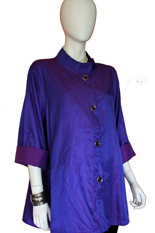Dark Purple to Purple Reversible Iridescent Swing Top
