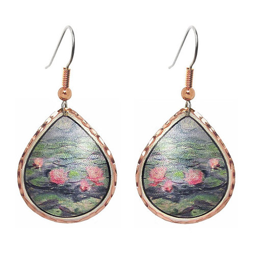 Monet Water Lilies Earrings