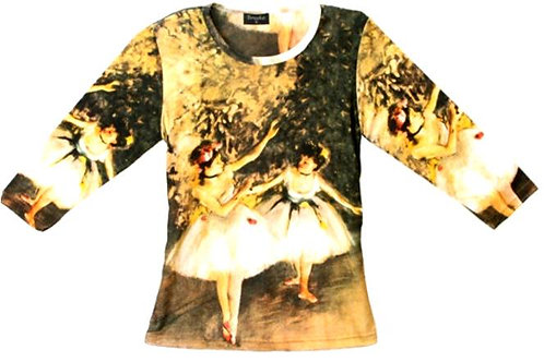 Dance Class by Degas #3 3/4 Sleeve Art Shirt