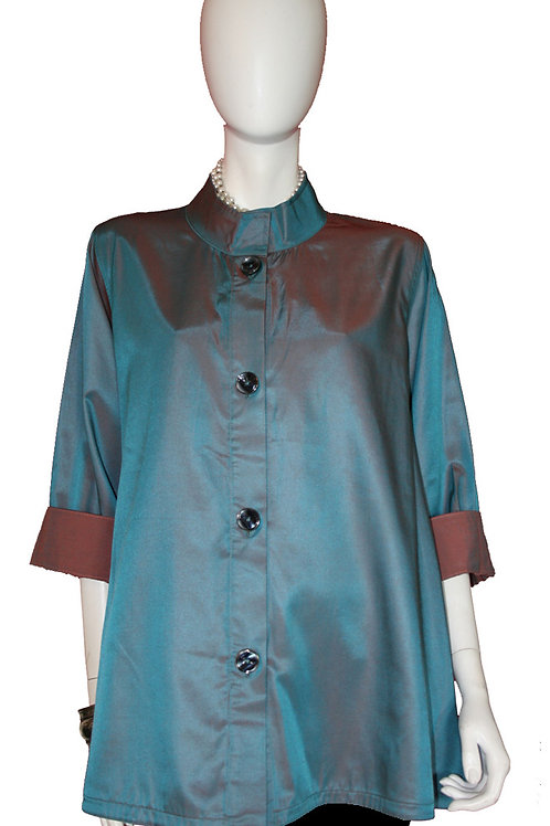 Teal to Copper Reversible Iridescent Swing Top