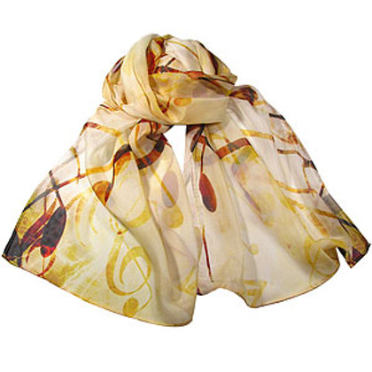 Notes Chiffon Scarf