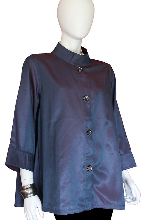 Blue/Purple to Plum Purple Reversible Iridescent Swing Top