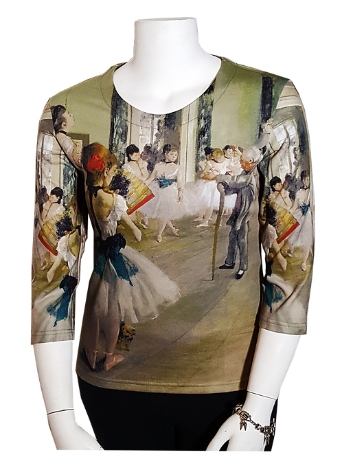 Dance Class by Degas 3/4 Sleeve Art Shirt