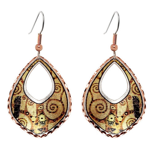 Klimt Tree of Life Earrings