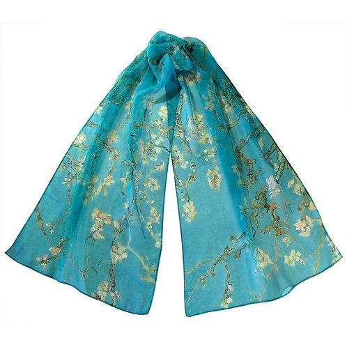Van Gogh Almond Blossoms Chiffon Scarf
