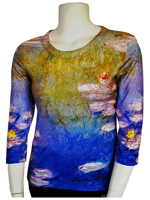 #15 - Waterlillies Series by Monet 3/4 Sleeve Art Shirt