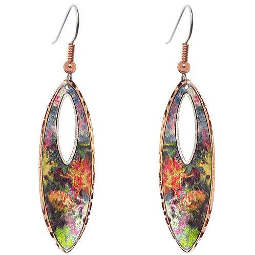 Monet Chrysanthemum Long Earrings