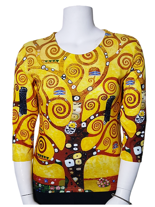Tree of Life by Klimt 3/4 Sleeve Art Shirt