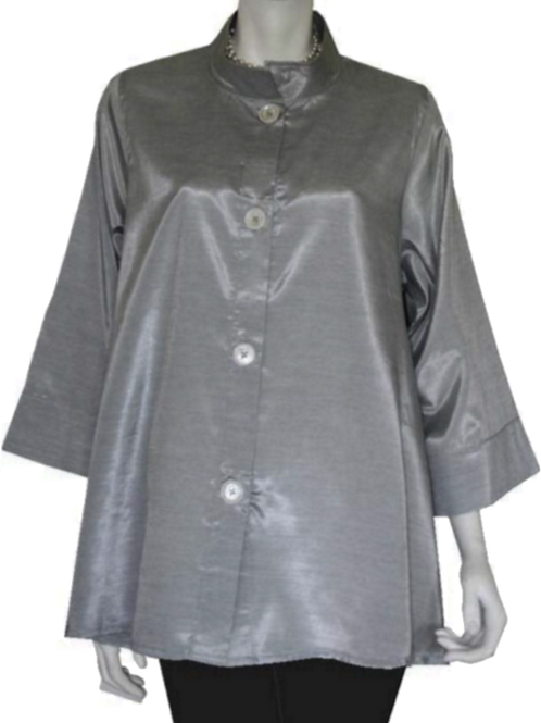 Light Gray Iridescent Solid Swing Top