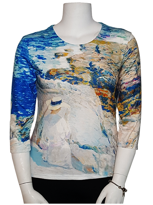South Ledges by Childe Hassam 3/4 Sleeve Art Shirt