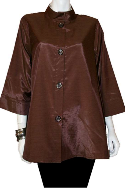 Brown Iridescent Solid Swing Top