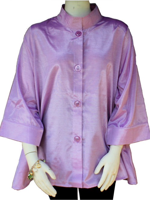 Lavender Iridescent Solid Swing Top