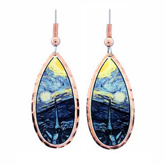 Van Gogh Starry Night Teardrop Earrings