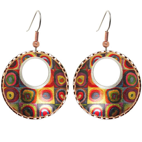 Kandinsky Color Study Circle Earrings