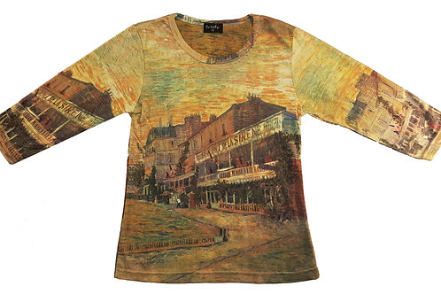 Van Gogh Restaurant  3/4 Sleeve Art Shirt