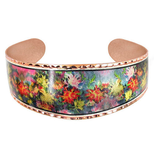Monet Chrysanthemum Cuff Bracelet