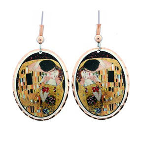 Gustav Klimt The Kiss Earrings