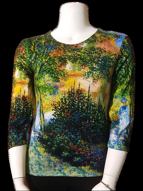 Pathway by Monet 3/4 Sleeve Art Shirt