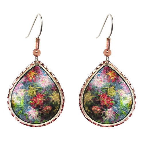 Monet Chrysanthemum Earrings