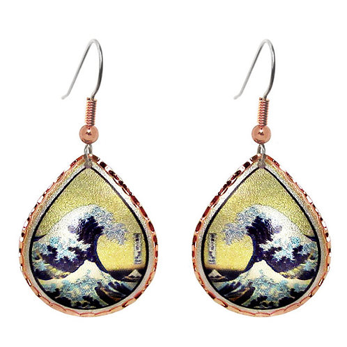 Hokusai The Great Wave Earrings