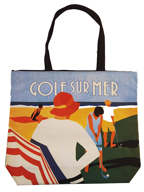 Golf Surmer Canvas Tote