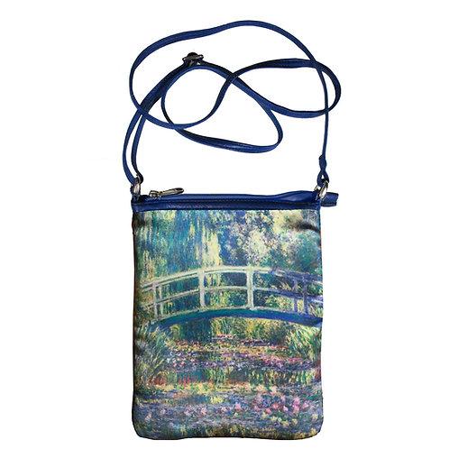 Monet Japanese Bridge Art Hipster Bag