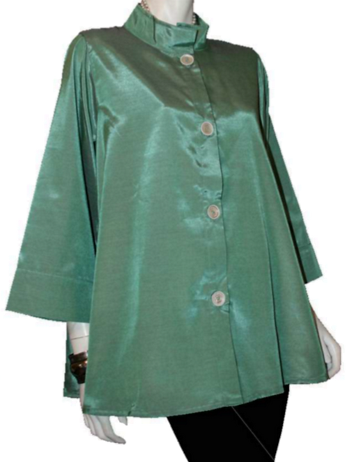 Green with Red  Iridescent Solid Swing Top